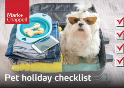 A Checklist For Going On Holiday With Your Pet