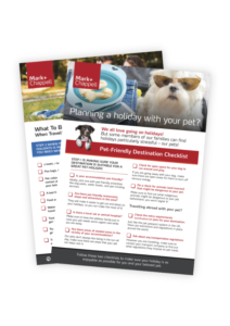 Pet Holiday Checklist Main Image - Mark and Chappell