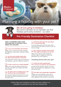 Pet Holiday Checklist Sidebar Image 2 - Mark and Chappell