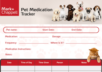 Free Pet Medication Tracker