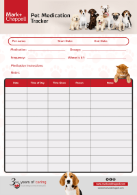 Pet Medication Tracker - Mark + Chappell