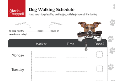 Family Dog Walking Schedule