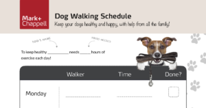 Dog Walking Schedule Facebook