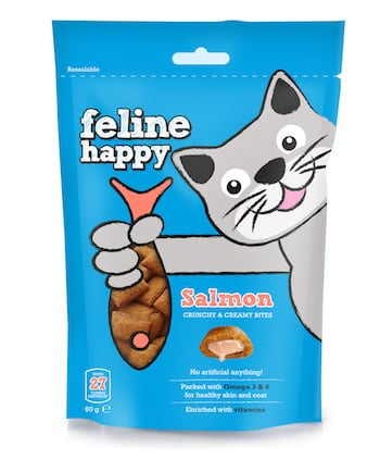Feline Happy Salmon - Mark and Chappell